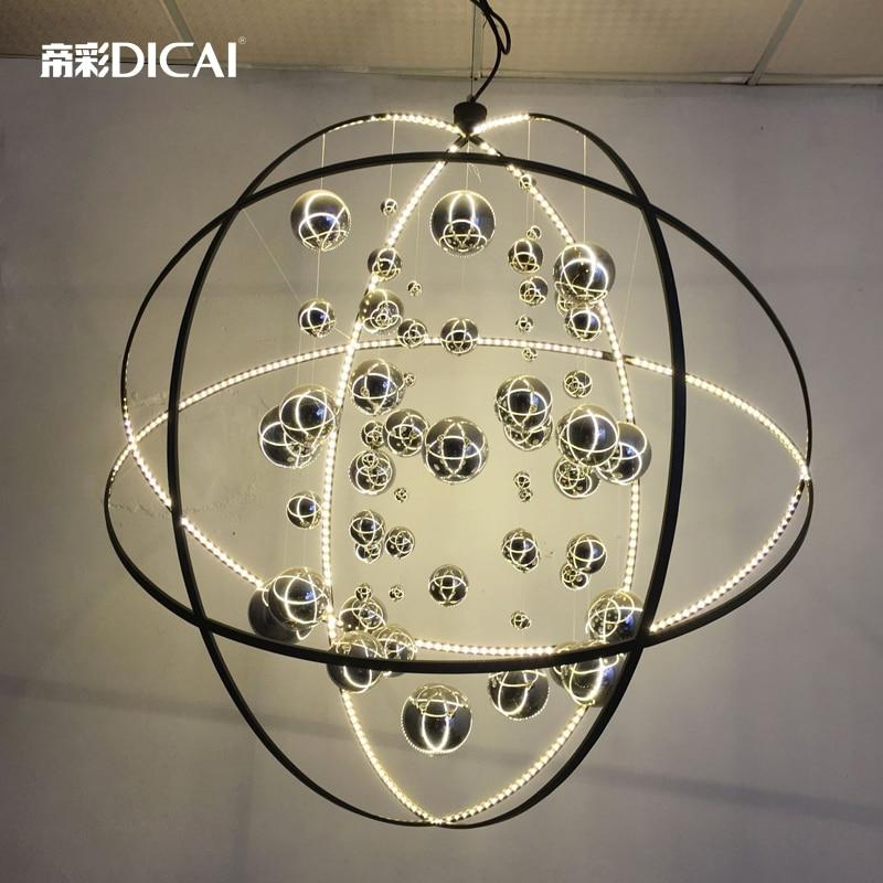 Loft Uiverse Ball LED Ceiling Lamp DropLight Pendant Cafe Dining Room Club edison inustrial loft vintage amber glass basin pendant lights lamp for cafe bar hall bedroom club dining room droplight decor