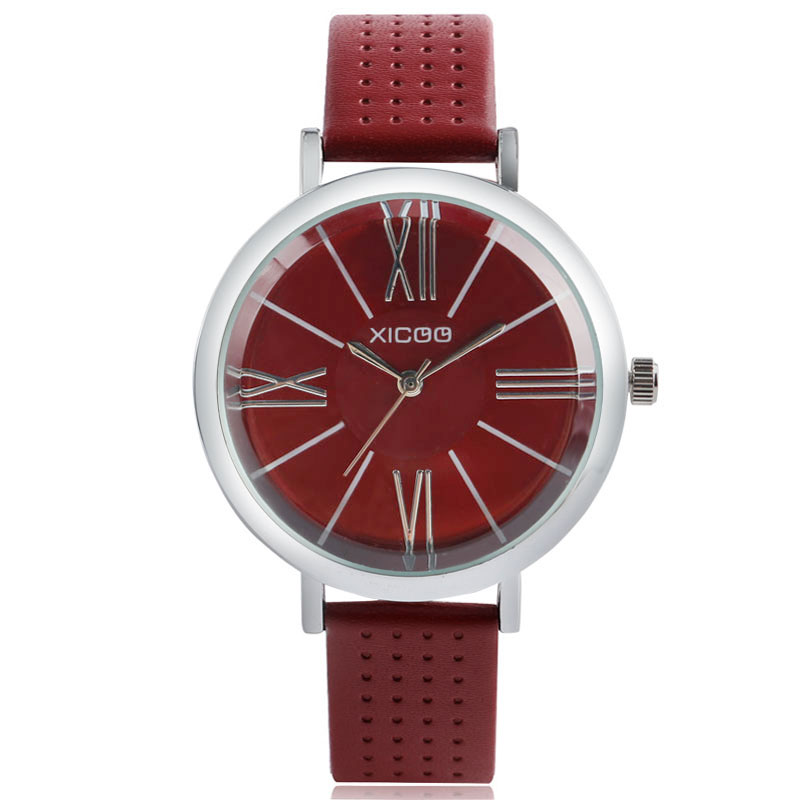 XICOO 2018 Fashion Women Watch Top Brand Luxury Genuine Leather Band Bracelet Wristwatch Ladies Casual Quartz Watch 4 Colors simple fashion hand made wooden design wristwatch 2 colors rectangle dial genuine leather band casual men women watch best gift