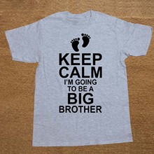 f5303ed8 Baby Pregnancy KEEP CALM I'm Going To Be A BIG BROTHER Boys Mens Cotton T  Shirt Men Cotton Short Sleeve T-shirt Top Tees