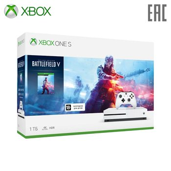 Video Game Console Microsoft Xbox One S 234-00689 + Battlefield V