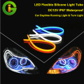 DC12V IP67 waterproof LED flexible silicone light Tube Strip Daytime Running Lights Turn Signal Car Styling Parking Lamps
