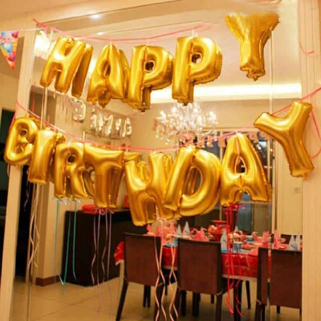 Горячая 16 дюймов золото и серебро буквы алфавита шар воздушный шар из фольги на день рождения Новый Год Вечерние Свадебная вечеринка украшения шары