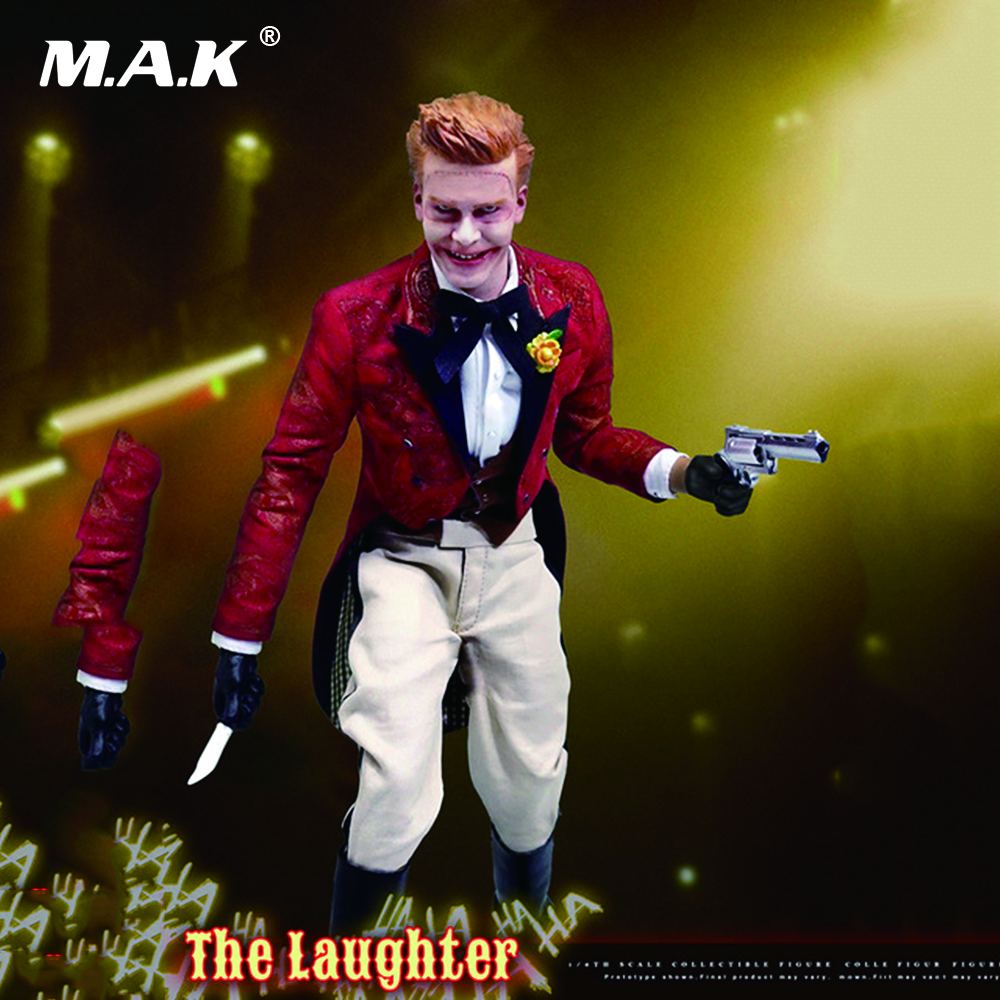 1/6 Scale The Laughter Gotham Joker Full Set Action Figures with Movable Eyes Collections Models Toys Gifts patrulla canina with shield brinquedos 6pcs set 6cm patrulha canina patrol puppy dog pvc action figures juguetes kids hot toys