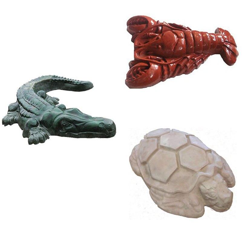 Frog Turtle Crocodile Crayfish ABS Plastic molds for concrete Plaster for garden Stone Tiles Decor Garden