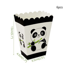 6pcs Panda Glass Popcorn box Party Decorations Supplies easter wedding Paper cups decor baby shower for home Activity goods 6pcs emoji disposable tableware popcorn box happy birthday party decorations supplies easter baby shower wedding activity goods