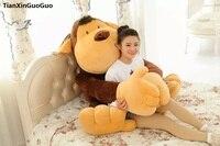 Сливочное игрушки огромный 130 см джунгли обезьян Плюшевые игрушки мультфильм Обезьяна Мягкая кукла обниматься подарок на день рождения s0551