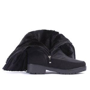 Image 5 - Gogc 冬のブーツの女性 2019 秋の冬の女性の高ブーツ防水ブランドの女性の靴 warmful 冬の靴の女性フラット 9893