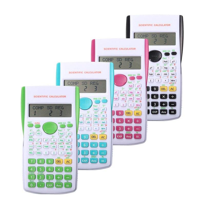 12 Digital Scientific Calculator 2 Line Display School Student Function Calculator Multifunctional Counter Calculating Machine