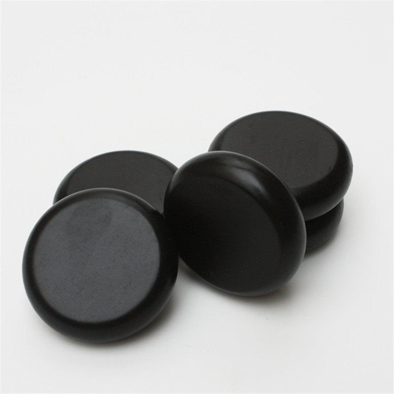 HIMABM 1 pack=5pcs 6*6cm Natrual hot spa black  basalt stone massage basalt stone Lava Rocks