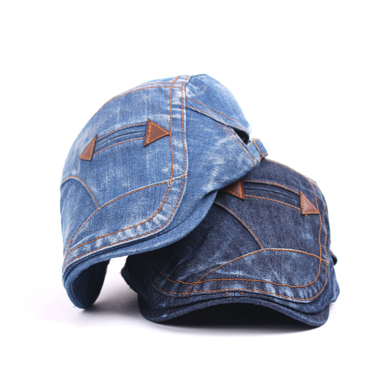 Fashion Spring Summer Jeans Hats for Men Women High Quality Casual Unisex Denim Beret Caps ...