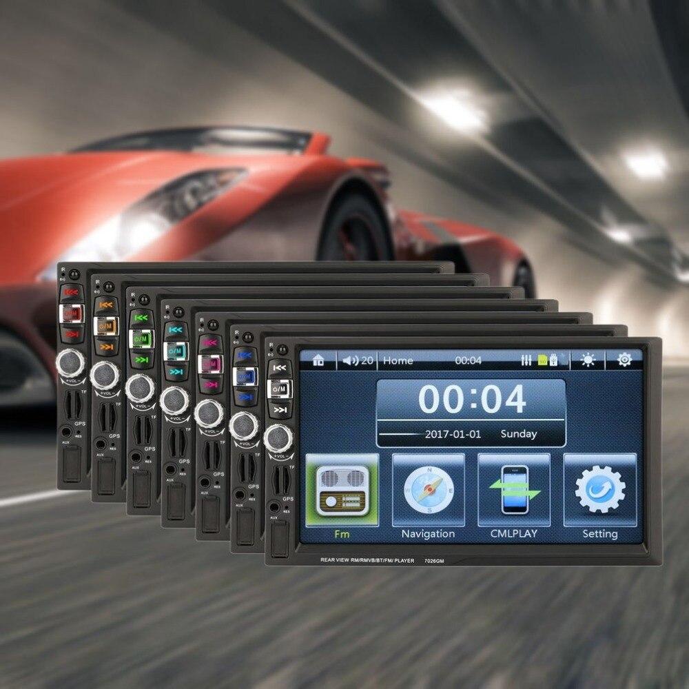 Здесь можно купить  7026GM 7 inch GPS Navigation Car FM 2 Din Radio Multimedia Player Touch Screen Bluetooth MP4 MP5 Mirror Link Device  Автомобили и Мотоциклы
