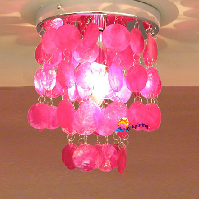 Nice Wholesale Price Colorful Conch Ceiling Light Fashionable Shell Hanging  Modern Bedroom Girl Kids Lamps Aisle Corridor Nice Look