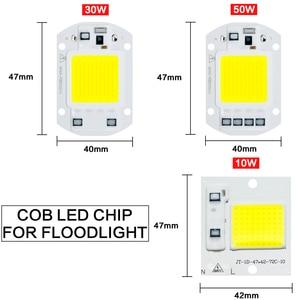 Image 4 - Sensor de movimento 220 v 10 w 30 w 50 led luz de inundação à prova dfocágua ip65 refletor holofote foco conduziu a luz exterior do ponto