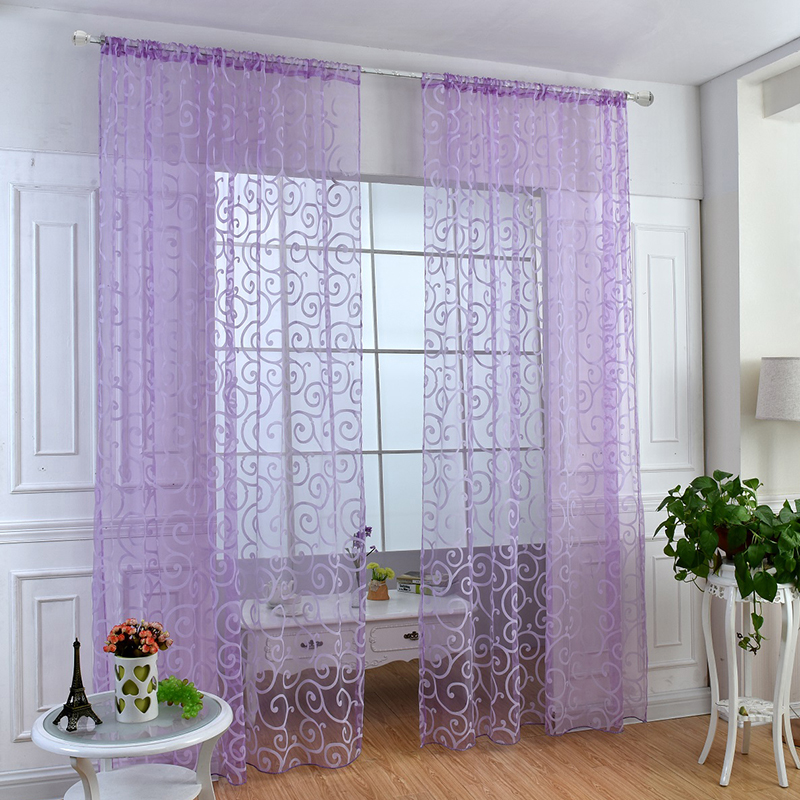 products from finished garden curtains quality screening item linen vine dimensional home in on modern curtain leaves sheer three window embroidery