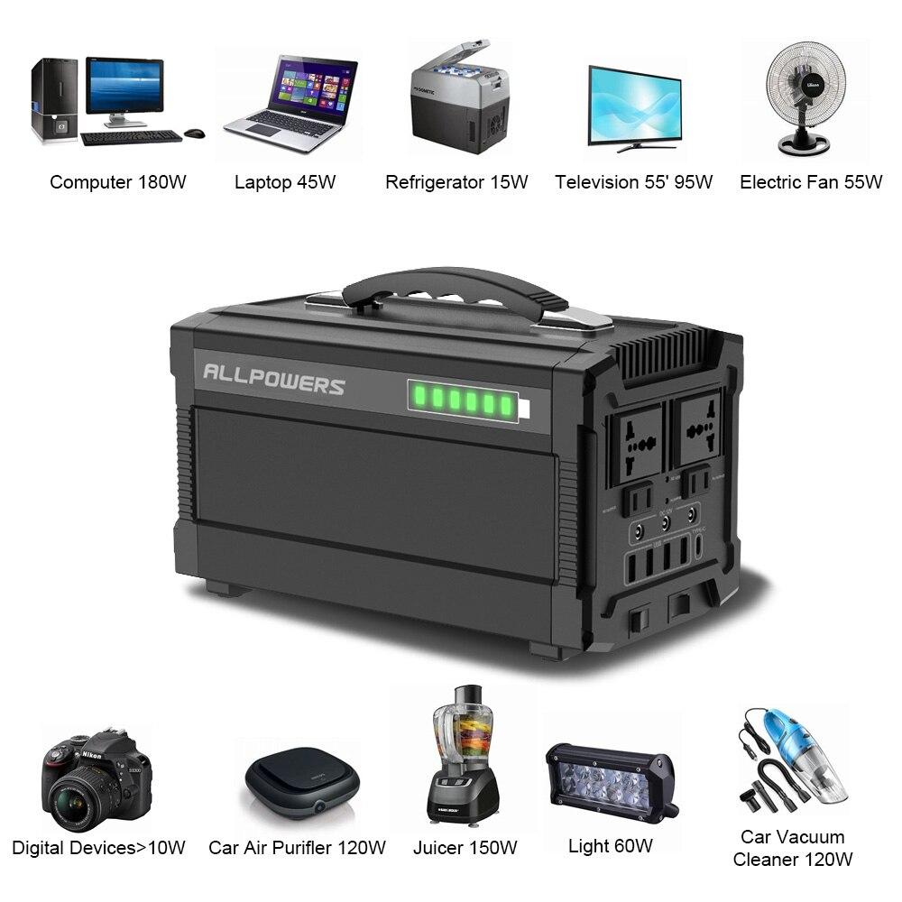Image 3 - ALLPOWERS 220V Power Bank 78000mAh Generator przenośny Power Station AC/DC/USB/type c wielokrotnego wyjścia UPS Power Battery.Powerbank   -