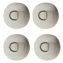 4PCS Stainless Steel D-Ring Pad Patch PVC Round ring Pad for Inflatable Boat Raft Dinghy Surfboard