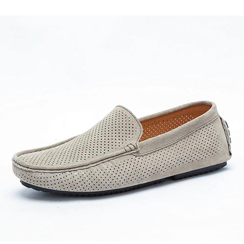 2017 Summer Genuine Loafers Men Schuhes Casual Genuine Summer Leder Flats Schuhes Soft Male Mocca 262c92