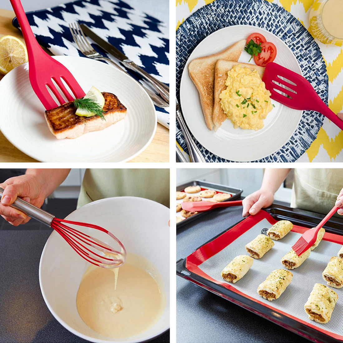 Pop 10Pc Heat Resistant Silicone Cookware Set Nonstick Cooking Tools Kitchen & Baking To ...
