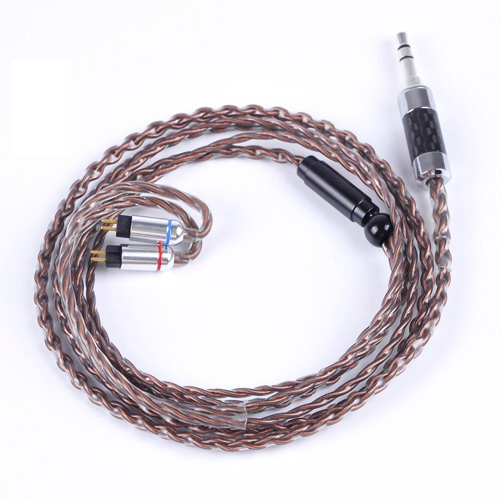 Wooeasy 4 Core 7N Cuivre Argent Plaqué Câble 2.5/3.5/4.4mm Câble Équilibré Avec MMCX/2pin pour LZ A5 A4 ZS10