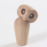 Wooden Owl Animal Statue Ornaments Action Ornament Home & Houseroom Decoration