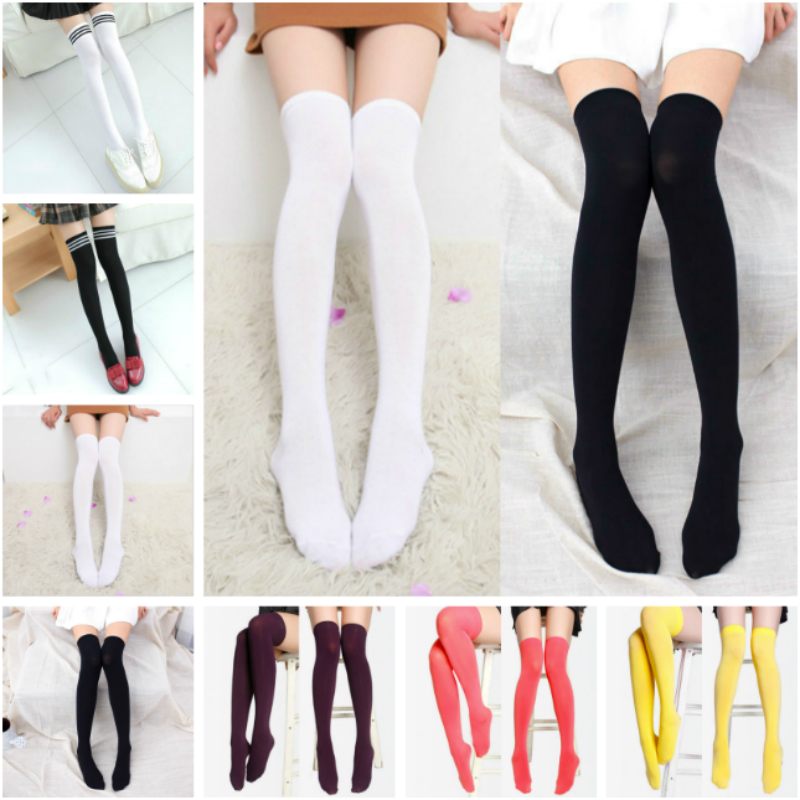 Overknee Anime Socks 1 Pair Elastic Leggings All Match Stage Cosplay for Adult Costume Anime Cartoon in Carnaval Halloween Party