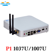 Partaker P1 Безвентиляторный Mini PC 1037U Celeron HDMI VGA Корпус Из Алюминиевого Сплава