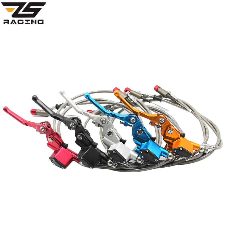 ZS-Racing Hydraulic Clutch 1200mm Lever Master Cylinder For 125-250cc Vertical Engine Off Road Motorcycle Dirt Bike Motocross