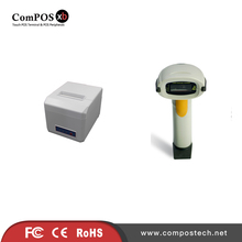 Free Delivery POS Thermal Receipt Printer Lottery Receipt Printer with Autocutter With 1D Barcode Scanner