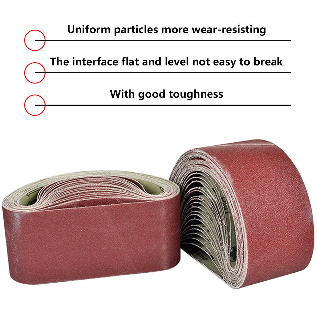Audacious 533x75mm Sanding Belts 80-320 Grits Sandpaper Abrasive Bands For Sander Power Rotary Tools Dremel Accessories Abrasive Tool Non-Ironing Tools