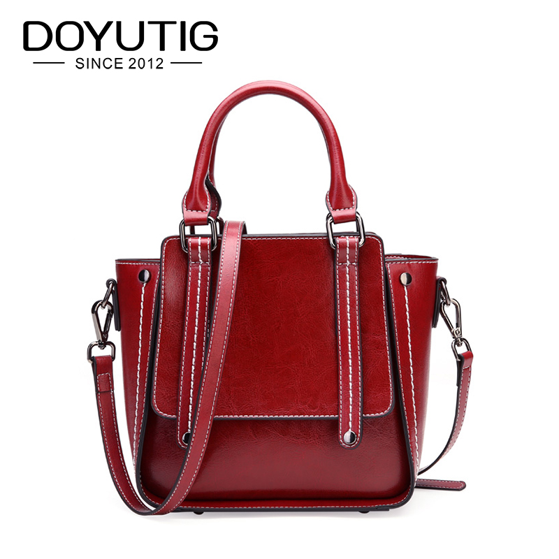 DOYUTIG Antique Womens Genuine Leather Casual Hobos High Quality Real Leather Handbags For Lady Crossbody New Fashion Bag F661DOYUTIG Antique Womens Genuine Leather Casual Hobos High Quality Real Leather Handbags For Lady Crossbody New Fashion Bag F661