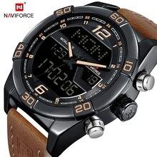 NAVIFORCE Herrenuhren Top marke Luxus Wasserdicht Datum Uhr Männlichen Lederband Beiläufige Uhr Männer Sport Armbanduhr