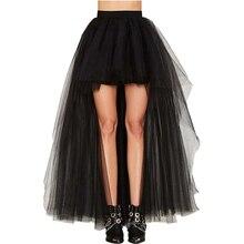 Coswe черный ласточкин хвост Винтаж стимпанк юбки для женщин для длинные Бурлеск корсет юбка Чистая Пряжа Готический Костюмы Ретро