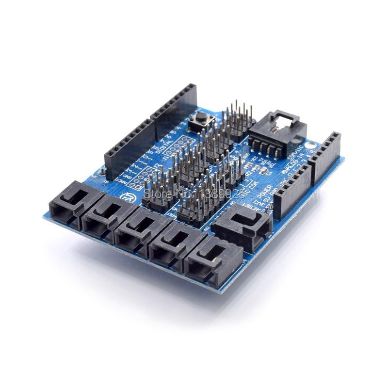 Freies verschiffen 5 teile/los Neue Sensor-schild V4.0 DIGITAL-ANALOG-MODUL für arduino UNO Mega 2560 Duemilanove AVR