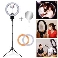 NanGuang Studio CN R640 640 LED CRI 95 5600K Ring Light with 185cm 6' Light Stand + Color Filter Mirror Kit for Photo Video