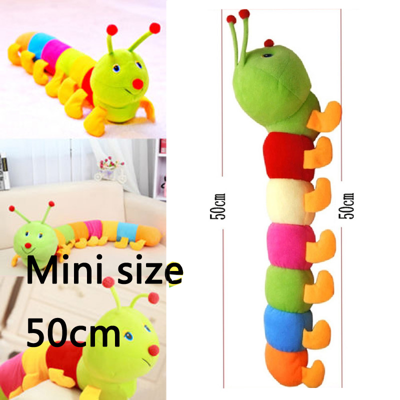 caterpillar Soft Toy Doll Rattle Kids Baby Playmate Toys Calm Owl Doll cute peek-a-boo Hot gift for children kids baby Pillow
