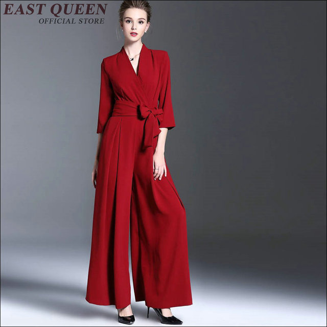 2018 New Arrival Womens Jumpsuit Long Length Women Business Casual