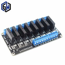 10pcs TENSTAR ROBOT 8 Channel 5V DC Relay Module Solid State Low Level SSR AVR DSP 2A 240V
