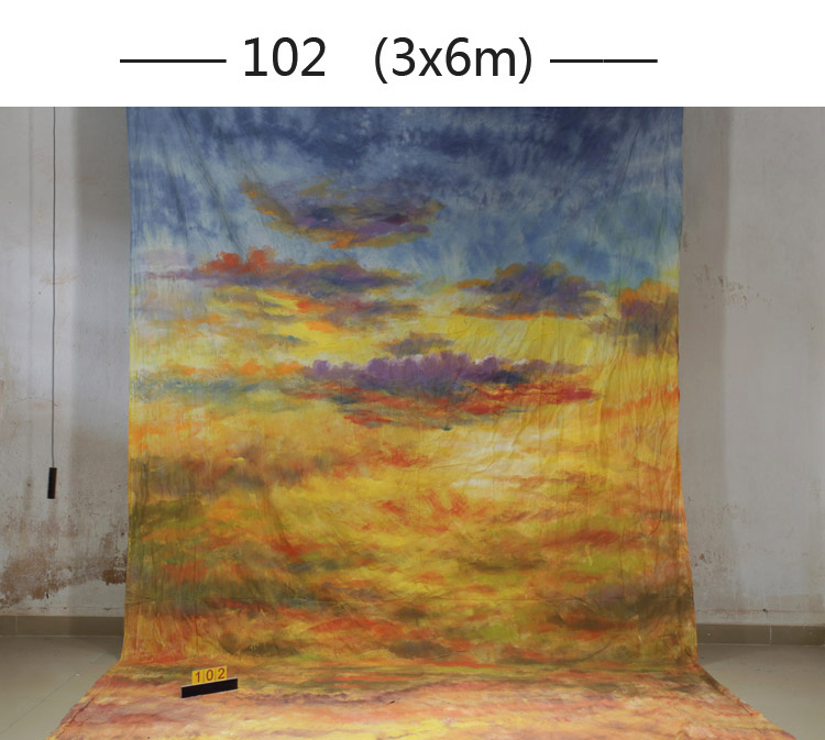 Professional customized Hand Painted muslin PHOTO BACKDROP wedding,100%cotton portrait photography backgrounds for photo studio lightdow cotton photography backdrop for photo studio