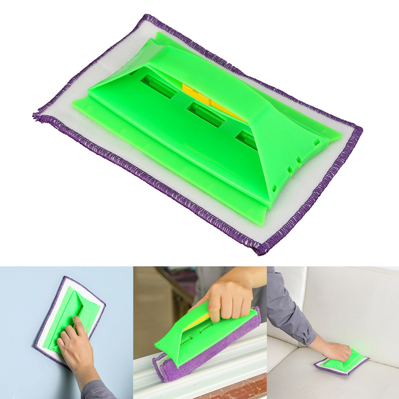Multi-purpose Cleaner Cloth Car Glass Wiping Groove Clean Brush Foldable Handle Tool HG99