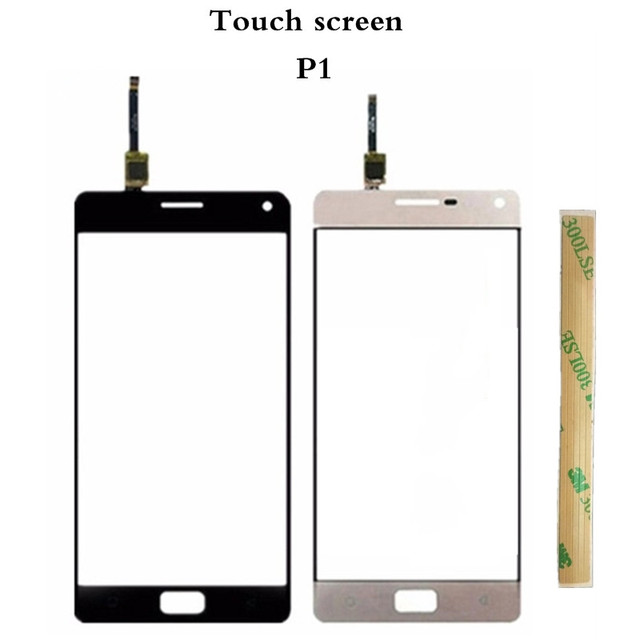 Vecmnoday 5.5'' For Lenovo P1 P1c72 P1a42 P1c58 Touch Panel Touch Screen Digitizer Front Glass Sensor Touchscreen With 3M Glue