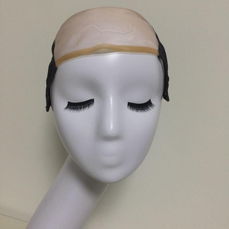 Mesh Front Glueless Lace Cap Wig Untuk Membuat Rambut palsu Dengan - Penjagaan rambut dan penggayaan - Foto 1