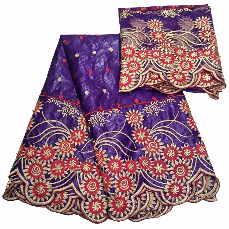WX 2018New Mixed Color Guinea Brocade Cotton African Lace Fabric Bazin Riche getzner Tissu Top Quality