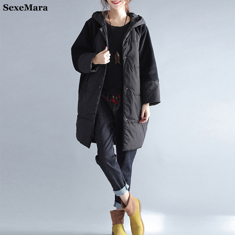 2017 winter jackets woman elegant plus size Fashion coat women long hooded outwear black thick parka feminine clothes велосипед format 1713 2014