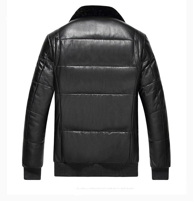 KMETRAM 2019, высокое качество, кожаный пуховик, мужской, роскошный, натуральная кожа, мужские s 100%, овчина, зимняя куртка, черный, 4XL, куртка, HH509 - 2