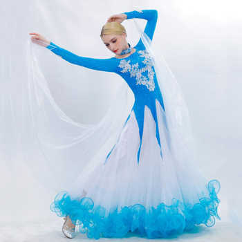 Ballroom Dance Dress 2019 New Adult Senior Embroidery Big Swing Dress Women Latin Waltz Tango Dance Stage Performance Costumes - DISCOUNT ITEM  10% OFF All Category