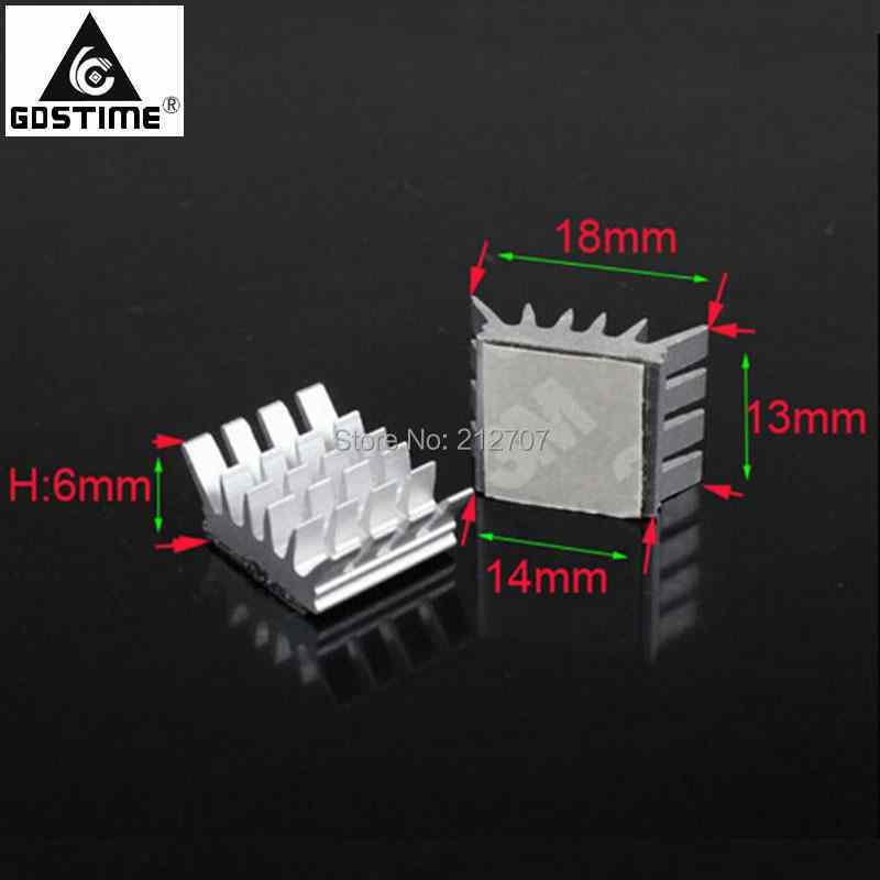 8pcs 20mm 20x20x10mm Black Aluminium Heatsink For Motherboard DDR RAM Memory