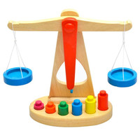 Balance Scale di legno Early Learning Peso Bambino Bambini Intelligenza Giocattoli Aug24
