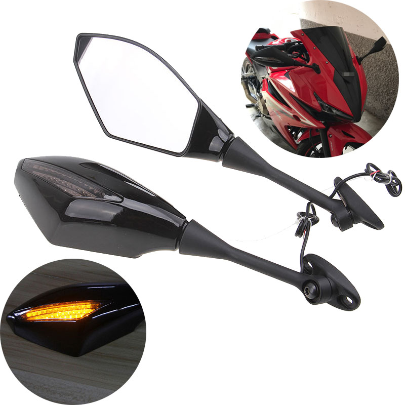 Honda Xr125l 2003 2013 Review: 1 Pair Motorcycle Turn Signals Rear View Side Mirrors For