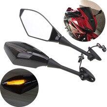 1 пара мотоциклов поворотники заднего вида боковые зеркала для Honda CBR 600 RR 2003-2014 CBR1000RR 2004 2005 2006 2007 CBR 250R 500R