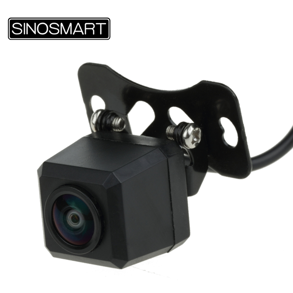SINOSMART Universal Wide View Angle Portable Reverse Parking Camera Adjustable Lens Firm Installation With Stainless Metal Screw